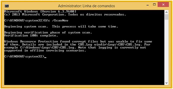 Como reparar o ficheiro CBS.log